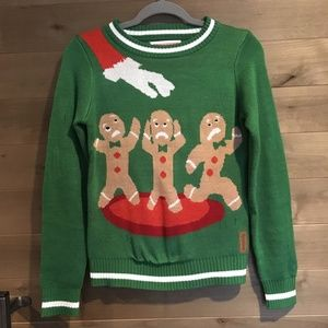 TIPSY ELVES Gingerbread Men Ugly Xmas Sweater Top